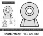 web camera vector line icon... | Shutterstock .eps vector #483121480