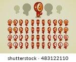 animated bronze keys   Shutterstock .eps vector #483122110