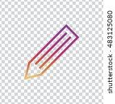 pencil icon vector  clip art....