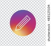 pencil circle icon vector  clip ...