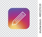 pencil square icon vector  clip ...