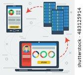 vector concept online server... | Shutterstock .eps vector #483125914