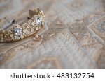 wedding rings and tiara | Shutterstock . vector #483132754