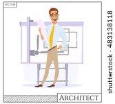 chef construction engineer man... | Shutterstock .eps vector #483138118