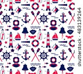 seamless texture from sailing... | Shutterstock .eps vector #483139264