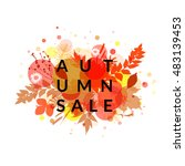 autumn banner vector isolated.... | Shutterstock .eps vector #483139453
