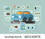 diagnostics of machines in... | Shutterstock .eps vector #483140878