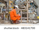 mechanical inspector inspection ... | Shutterstock . vector #483141700