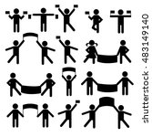 people person stick figure... | Shutterstock .eps vector #483149140