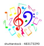 notes set collection vector... | Shutterstock .eps vector #483173290