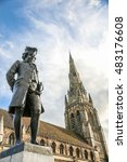 Small photo of Bronze statue of Boswell in Lichfield.