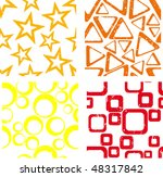 colour textures from figures | Shutterstock .eps vector #48317842