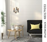 3d illustration of living room... | Shutterstock . vector #483179353