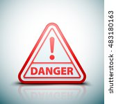 exclamation danger sign | Shutterstock .eps vector #483180163