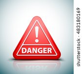 exclamation danger sign | Shutterstock .eps vector #483180169