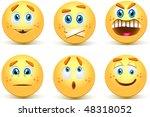 set of smiley balls | Shutterstock .eps vector #48318052