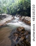 water stream with waterfall... | Shutterstock . vector #483181510