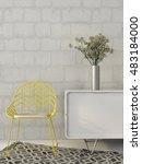 3d illustration of modern... | Shutterstock . vector #483184000