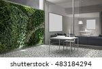 vertical gardening  office... | Shutterstock . vector #483184294
