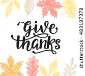 give thanks  thanksgiving day... | Shutterstock .eps vector #483187378