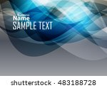 orange abstract template for... | Shutterstock .eps vector #483188728
