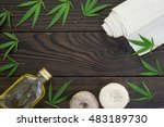 Leaves Of Cannabis  A Bottle O...