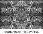 unique hand drawn abstract... | Shutterstock .eps vector #483190156