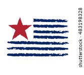american flag grunge  symbol... | Shutterstock .eps vector #483198328