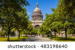texas state capitol building in ... | Shutterstock . vector #483198640