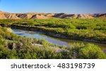 Rio Grande River Flows Through...