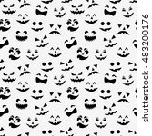 seamless pattern with black... | Shutterstock .eps vector #483200176