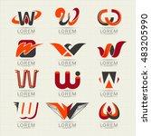logo letter w. element and... | Shutterstock .eps vector #483205990