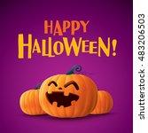 happy halloween   | Shutterstock .eps vector #483206503
