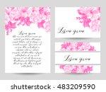 vintage delicate invitation... | Shutterstock . vector #483209590