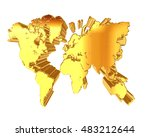3d illustration. golden world... | Shutterstock . vector #483212644