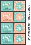 gift voucher template vector... | Shutterstock .eps vector #483221878