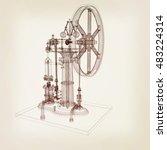 perpetuum mobile. 3d render. 3d ... | Shutterstock . vector #483224314