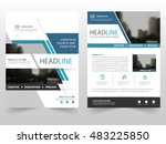 blue business brochure leaflet... | Shutterstock .eps vector #483225850