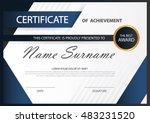 blue elegance horizontal... | Shutterstock .eps vector #483231520