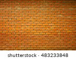 Wall Of Red Brick. Texture
