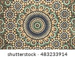 moroccan tile background | Shutterstock . vector #483233914