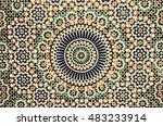 moroccan tile background | Shutterstock . vector #483233914