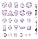 the jewels   amethyst  set on a ... | Shutterstock .eps vector #483235600