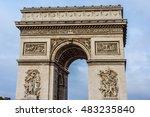 arc de triomphe de l'etoile on...   Shutterstock . vector #483235840