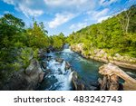 rapids in the potomac river at... | Shutterstock . vector #483242743