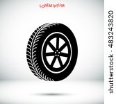 wheel icon  vector best flat... | Shutterstock .eps vector #483243820