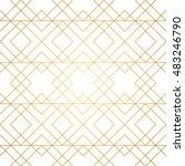 seamless geometric pattern.... | Shutterstock .eps vector #483246790