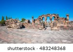 the ruins of the ancient temple ... | Shutterstock . vector #483248368