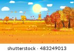 autumn nature landscape with...