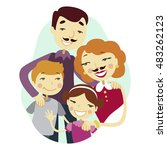happy family man and a... | Shutterstock .eps vector #483262123